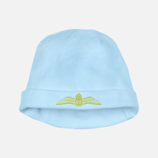 RAF Pilot Wings Yellow baby hat