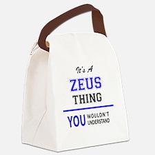 Cute Zeus Canvas Lunch Bag