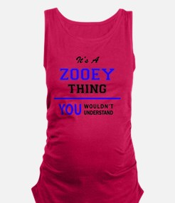 Funny Zooey Maternity Tank Top