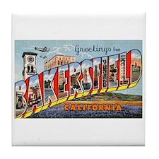 Bakersfield California Greetings Tile Coaster
