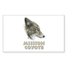 Mission Coyote Decal