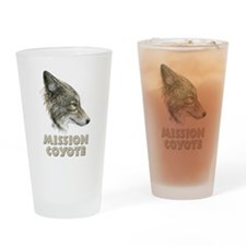 Mission Coyote Drinking Glass