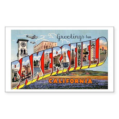 Bakersfield California Greetings Sticker (Rectangu