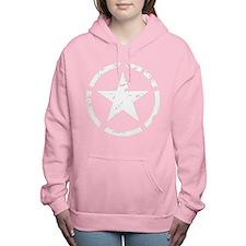 Military Star Grunge Women's Hooded Sweatshirt