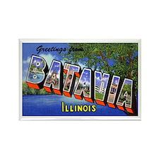 Batavia Illinois Greetings Rectangle Magnet