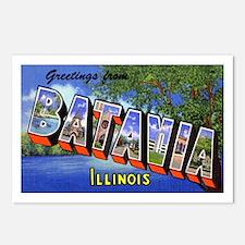 Batavia Illinois Greetings Postcards (Package of 8