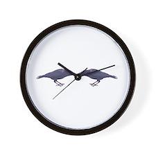Crow Council Wall Clock