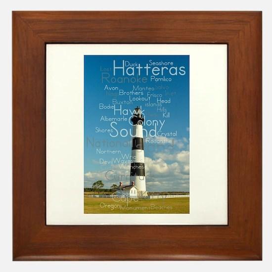 Bodie Island Lighthouse. Framed Tile