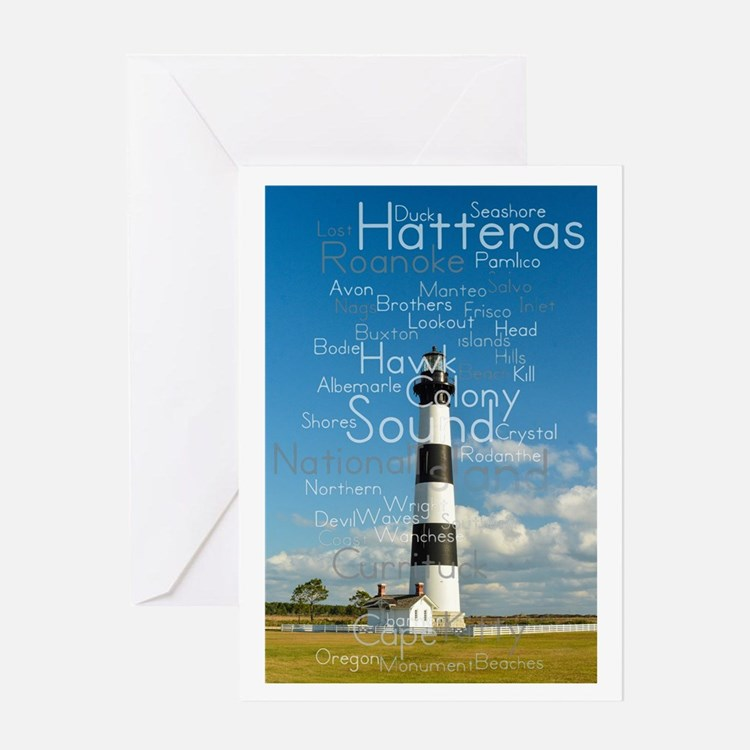 Bodie Island Lighthouse. Card Greeting Cards