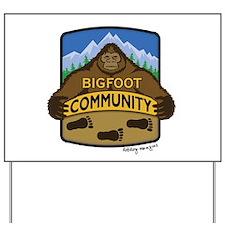 Bigfoot Community Logo Yard Sign
