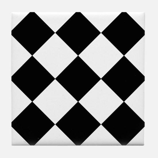 Black & White Basics Tile Coaster