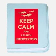 Keep Calm Interceptors UFO SHADO baby blanket