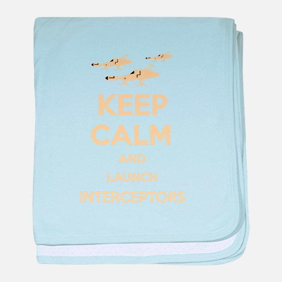 Keep Calm Interceptors UFO SHADO baby blanket
