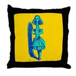 Curiouser and Curiouser! Throw Pillow