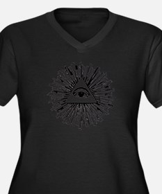 Illuminati Pyramid Eye Plus Size T-Shirt