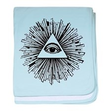 Illuminati Pyramid Eye baby blanket