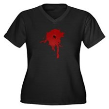Bullet Hole With Blood Plus Size T-Shirt
