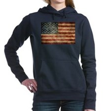 American flag grunge Women's Hooded Sweatshirt
