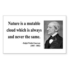 Ralph Waldo Emerson 26 Rectangle Decal