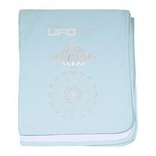 UFO Blueprint baby blanket