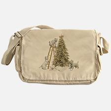 Westie Christmas Messenger Bag