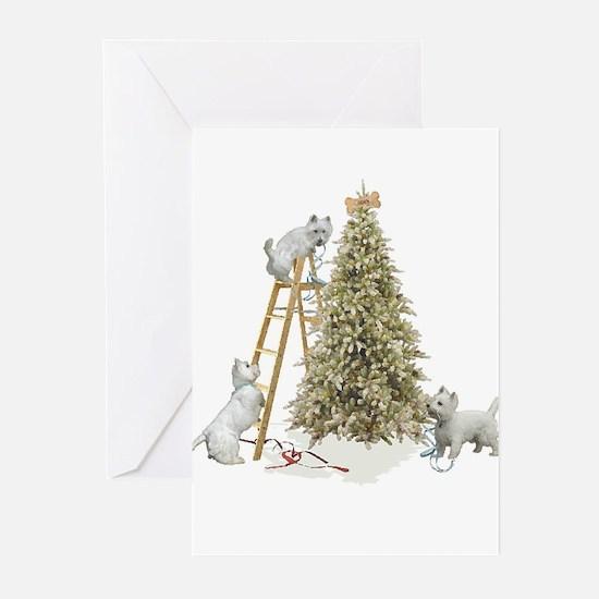 Westie Christmas Greeting Cards