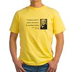 Ralph Waldo Emerson 27 Yellow T-Shirt