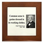 Ralph Waldo Emerson 27 Framed Tile