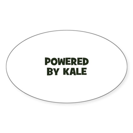 powered by kale Oval Sticker