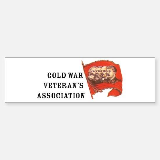 Cold War Veteran's Association Bumper Car Car Sticker