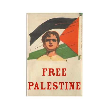 Free Palestine Rectangle Magnet (10 pack