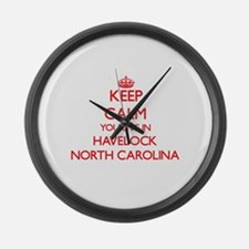 Keep calm you live in Havelock No Large Wall Clock