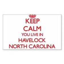 Keep calm you live in Havelock North Carol Decal