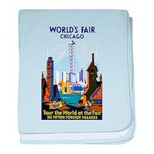 World's Fair Chicago 1934 Vintage baby blanket