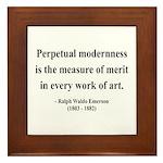 Ralph Waldo Emerson 28 Framed Tile
