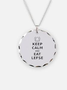 Keep Calm Eat Lefse Necklace