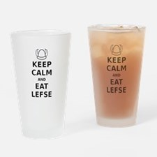 Keep Calm Eat Lefse Drinking Glass