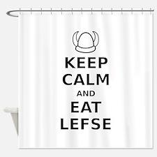 Keep Calm Eat Lefse Shower Curtain