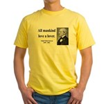 Ralph Waldo Emerson 29 Yellow T-Shirt