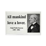 Ralph Waldo Emerson 29 Rectangle Magnet (100 pack)