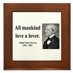Ralph Waldo Emerson 29 Framed Tile