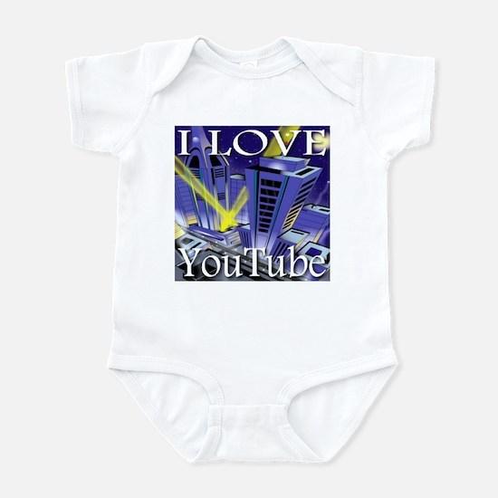 I Love YouTube Metropolis Spo Infant Bodysuit