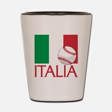 Italia Baseball Shot Glass