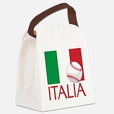 Italia Baseball Canvas Lunch Bag
