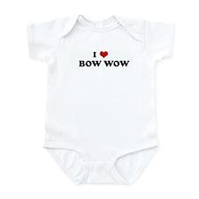 I Love     BOW WOW Infant Bodysuit