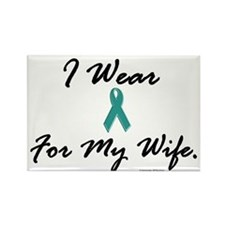 Wear Teal For My Wife 1 Rectangle Magnet