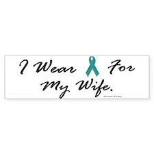 Wear Teal For My Wife 1 Bumper Bumper Sticker