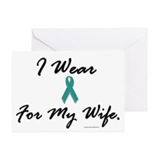 Wear Teal For My Wife 1 Greeting Cards (Package of