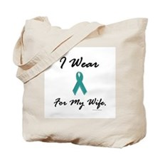 Wear Teal For My Wife 1 Tote Bag