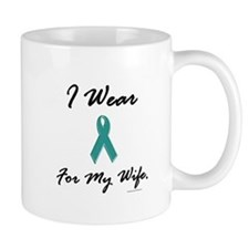 Wear Teal For My Wife 1 Small Mugs